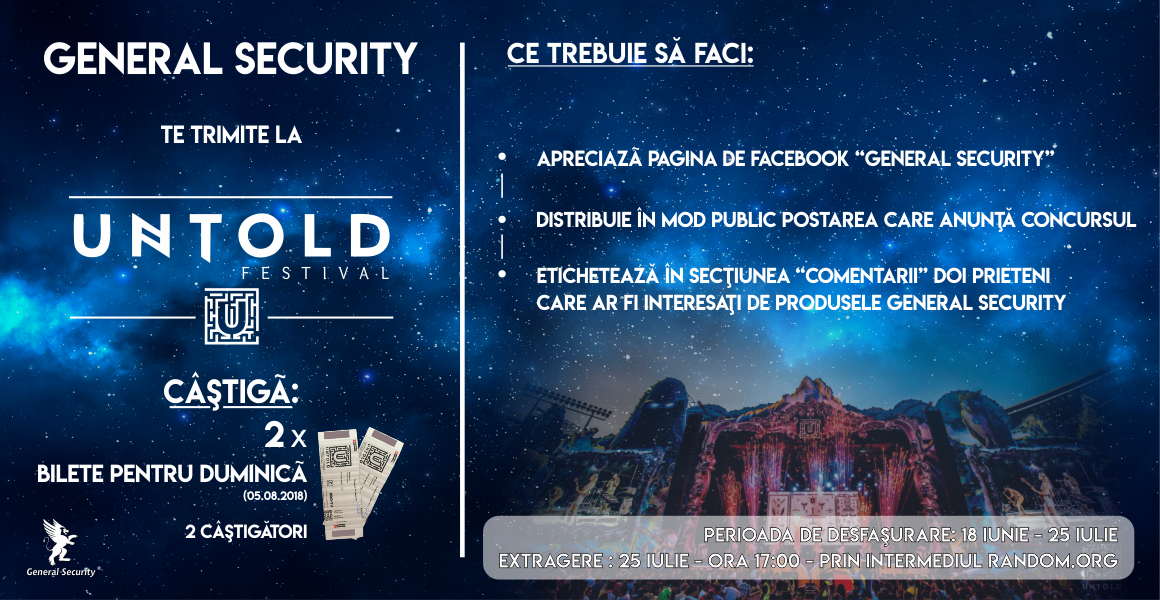 General Security te trimite la Untold